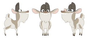 Goatfrey Character Design Model Sheet